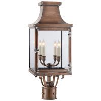 Bedford Post Lantern in Natural Copper with Clear Glass