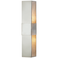 """Bowery 18"""" Wall Sconce in Polished Nickel with Mesh Diffuser"""