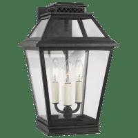 Falmouth Medium Outdoor Wall Lantern Dark Weathered Zinc