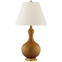 Addison Medium Table Lamp in Dark Honey with Natural Percale Shade