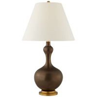 Addison Large Table Lamp in Matte Bronze with Natural Percale Shade