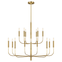 Brianna Large Two-Tier Chandelier Burnished Brass