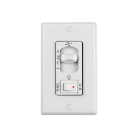 3 - Speed Wall Control with On/Off Light Switch White