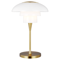Rossie Table Lamp Burnished Brass Bulbs Inc