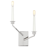 Hopton Left Double Sconce Polished Nickel