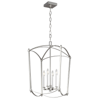 Thayer Medium Lantern Polished Nickel