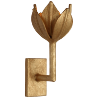 Alberto Small Sconce in Antique Gold Leaf