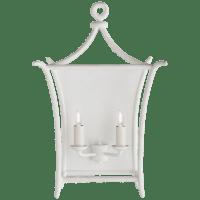 Aria Large Wall Lantern in Plaster White