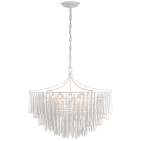 Vacarro Medium Chandelier in Plaster White