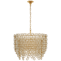Milazzo Medium Waterfall Chandelier in Gild and Crystal