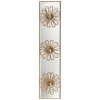 """Keaton 18"""" Floral Vanity Light in Gild and Mirror"""