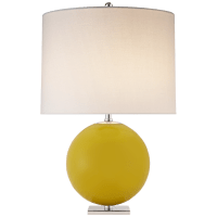 Elsie Table Lamp in Yellow with Linen Shade