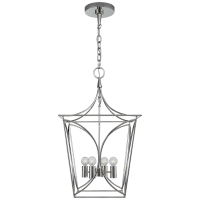 Cavanagh Small Lantern in Polished Nickel