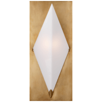Forma Sconce in Antique-Burnished Brass with White Glass