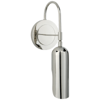 Lucien Functional Wall Light in Polished Nickel