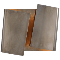 Piel Right Twisted Sconce in Pewter