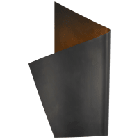 Piel Left Wrapped Sconce in Bronze