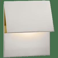Esker Single Fold Sconce in Polished Nickel