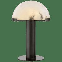 Melange Table Lamp in Bronze with Alabaster