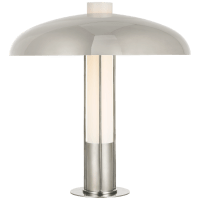 Troye Medium Table Lamp in Polished Nickel with Polished Nickel Shade