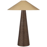 Miramar Table Lamp in Crystal Bronze with Antique-Burnished Brass Shade