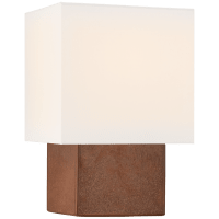 Pari Small Square Table Lamp in Autumn Copper with Linen Shade