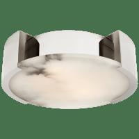 Melange Small Flush Mount in Polished Nickel with Alabaster