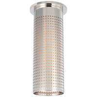Precision Tall Monopoint Flush Mount in Polished Nickel with White Glass