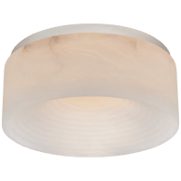 Otto Medium Flush Mount in Polished Nickel with Alabaster