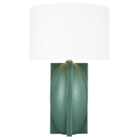 William Narrow Table Lamp Matte Green Bulbs Inc