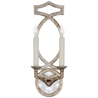 Brittany Double Sconce in Venetian Silver
