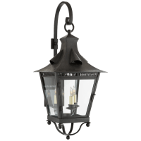Orleans Medium Bracketed Lantern in French Rust with Clear Glass