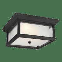 McHenry LED Flush Mount Textured Black Bulbs Inc