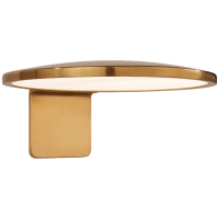 "Dot 13"" Wall Light in Natural Brass"