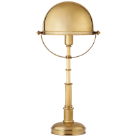 Carthage Table Lamp in Natural Brass