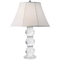 Daniela Table Lamp in Crystal with Silk Shade