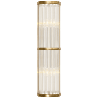 Allen Medium Linear Sconce in Natural Brass and Glass Rods