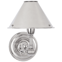 Anette Single Sconce in Polished Nickel