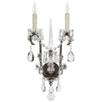 Alessandra Large Chandelier Sconce in Antiqued Gild with Crystal