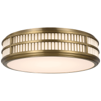 """Perren 24"""" Flush Mount in Natural Brass and Glass Rods"""
