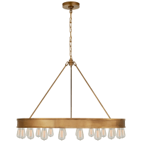 "Roark 40"" Modular Ring Chandelier in Natural Brass"