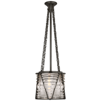 Chatham Small Lantern in Bronze with Clear Glass