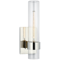 """Presidio 18"""" Outdoor Sconce in Polished Nickel with Clear Glass"""