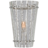 Cadence Small Sconce in Polished Nickel with Antique Mirror