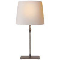 Dauphine Bedside Lamp in Aged Iron with Natural Paper Shade