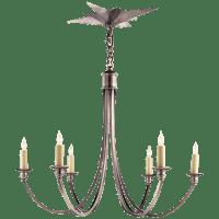 Venetian Medium Chandelier in Antique Silver