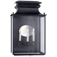 Honore Large 3/4 Sconce in Blackened Copper