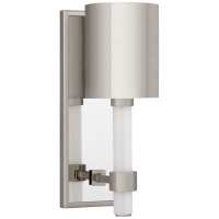 Maribelle Single Sconce in Polished Nickel with Polished Nickel Shade