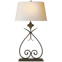 Harper Table Lamp in Natural Rust with Natural Paper Shade