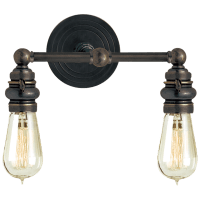 Boston Functional Double Light in Bronze